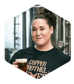 femme bière